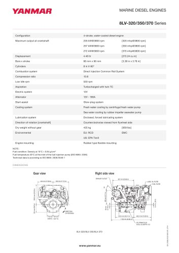 Specification datasheet - 8LV-350