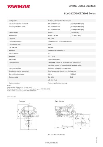 Specification Datasheet - 8LV-350Z