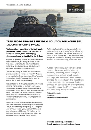 Case Study - Fender rental, North sea project