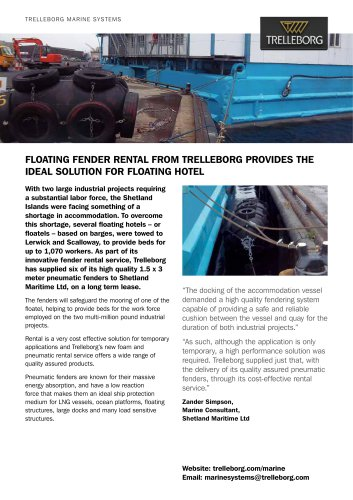 Case Study - Fender rental, Shetland floatover