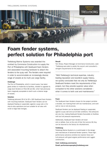 Case Study - Foam fender, Philadelphia Port