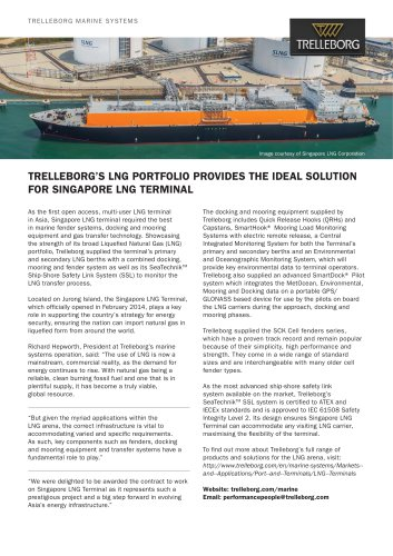 Case Study - Singapore LNG Terminal