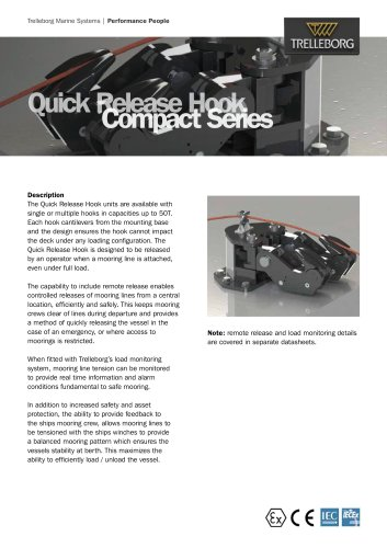 Datasheet - Quick Release Hook Compact Series