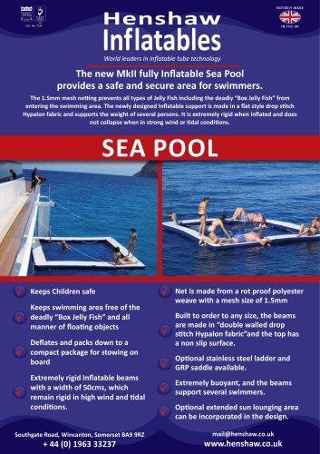 Sea pool - Wing & Henshaw inflatable Solutions - PDF Catalogs