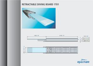 retractable diving board model 1T01