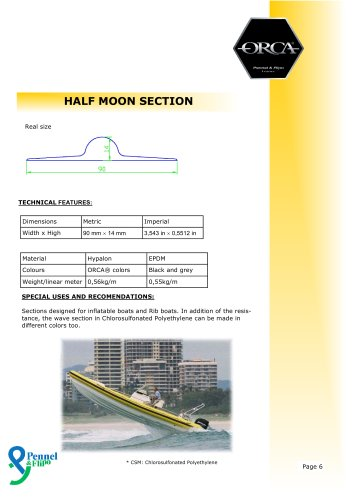 ORCA® Rubrail / Half Moon Section - Pennel & Flipo - PDF