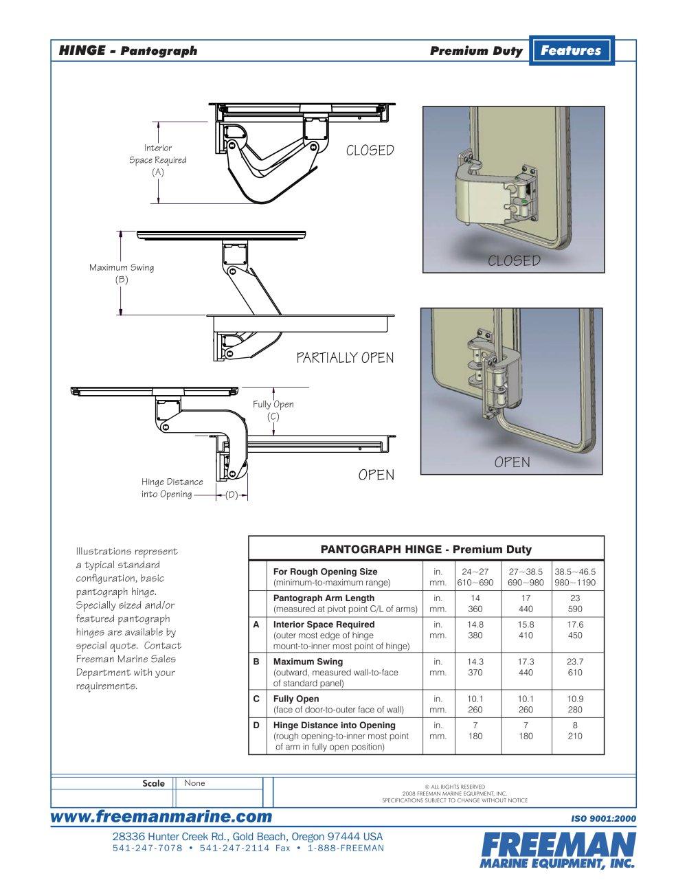 Pantograph Hinge - 1 / 6 Pages  sc 1 st  Catalogues Nauticexpo & Pantograph Hinge - Freeman Marine Equipment - PDF Catalogues ...