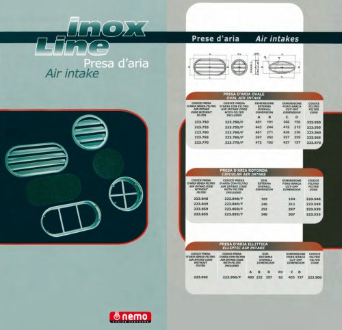 Air Intakes  (Elliptical)
