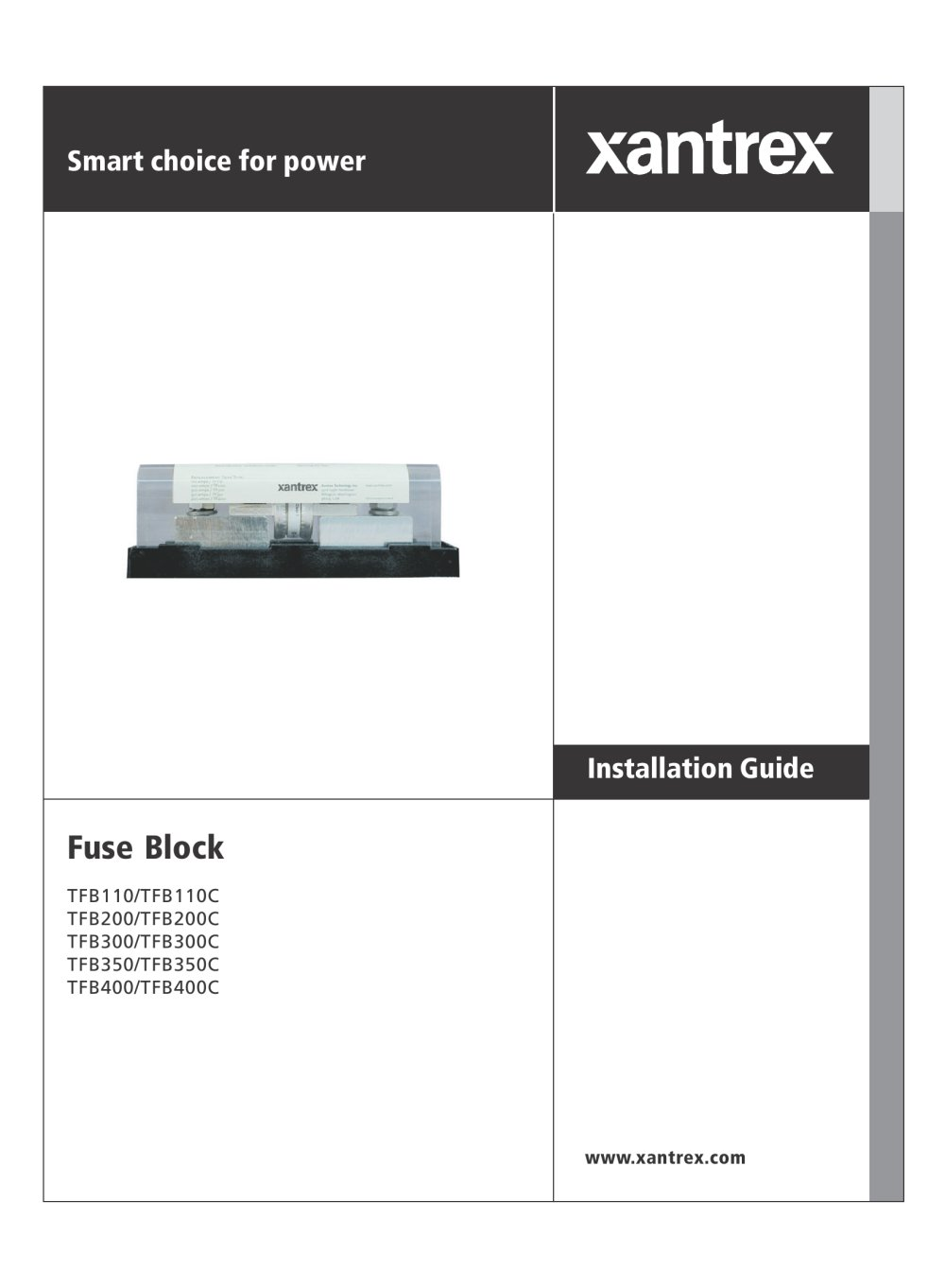 Battery Fuse Holder Xantrex Pdf Catalogues Documentation Freedom 458 Inverter Wiring Diagram 1 20 Pages