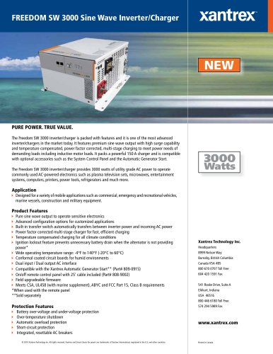FREEDOM SW 3000 Sine Wave Inverter/Charger