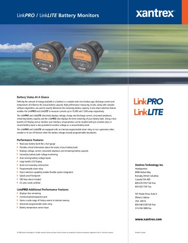 LinkPRO / LinkLITE Battery Monitors