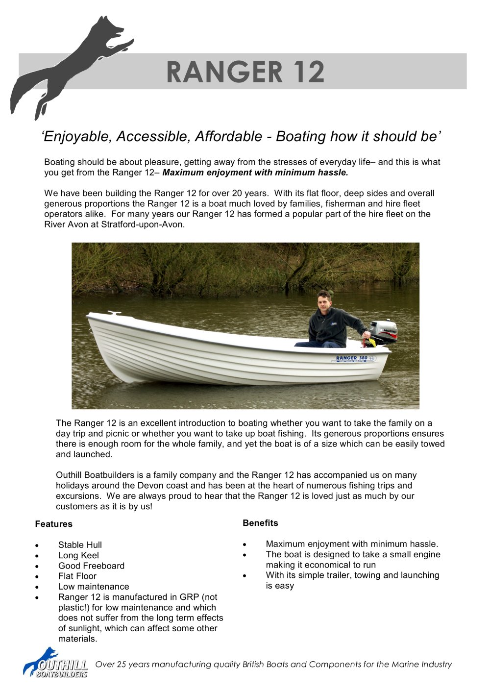 ranger 12 outhill boatbuilders pdf catalogues documentation