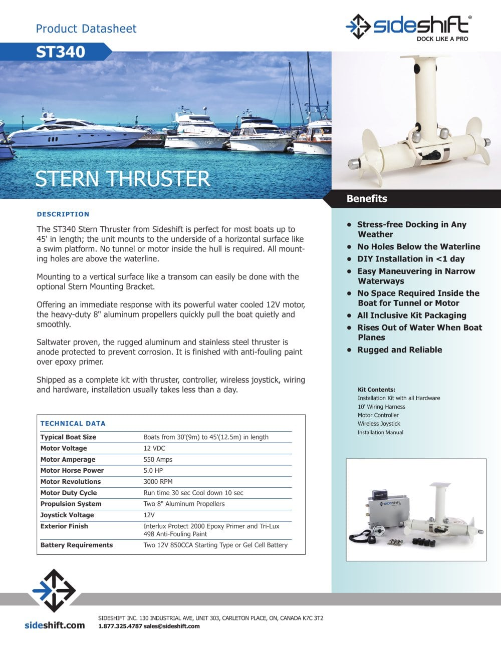 ST340 - Sideshift - PDF Catalogues | Documentation | Boating Brochures