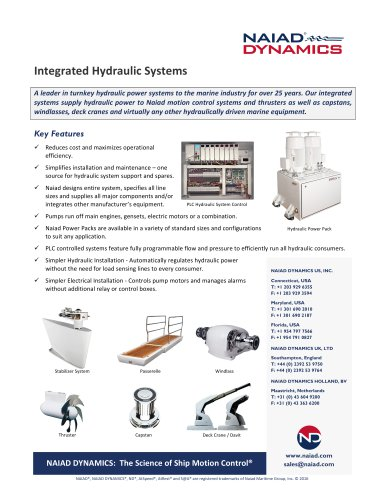 Integrated Hydraulic Systems