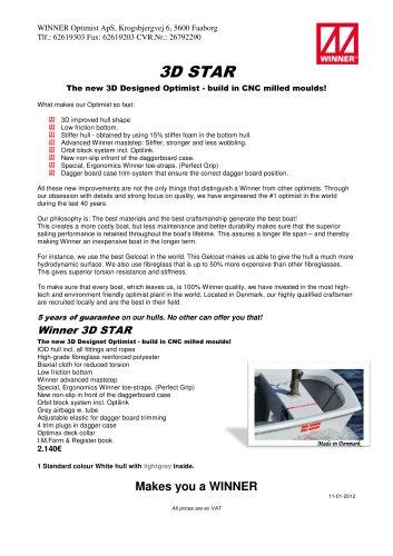 3d star - WINNER OPTIMIST - PDF Catalogs   Documentation   Boating