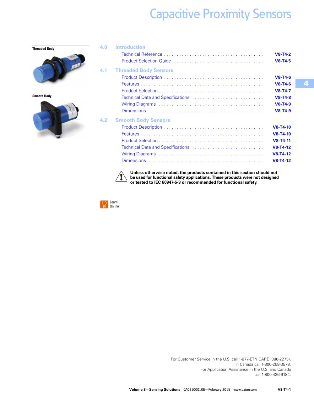 Capacitive proximity sensors - 1 / 12 Pages