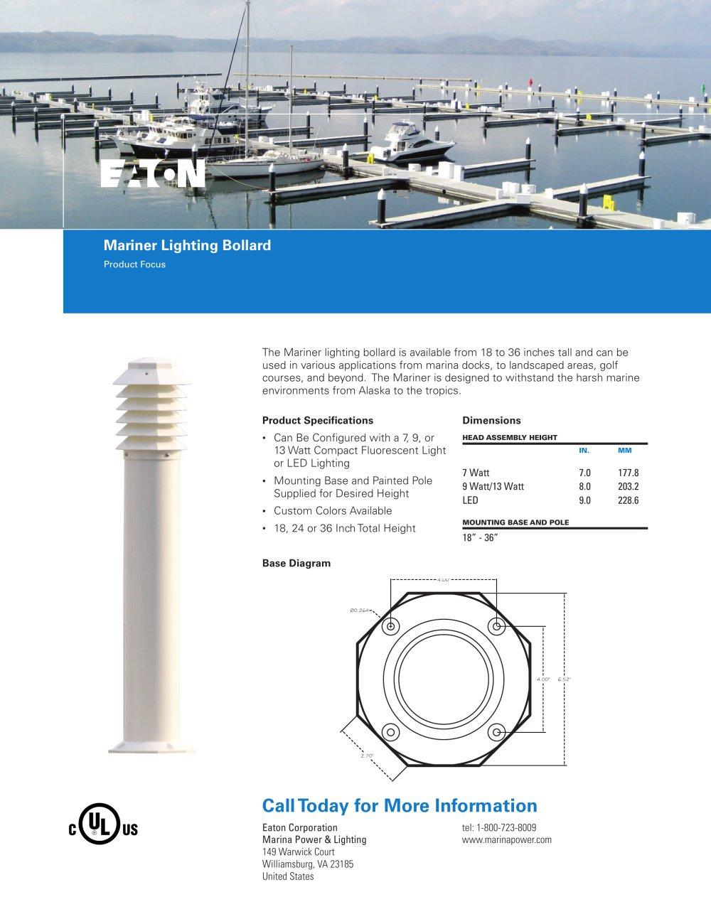 mariner lighting bollard eaton pdf catalogues documentation