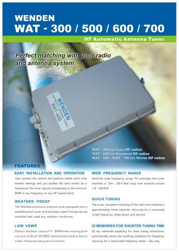 WAT-500 - Wenden Radio Co , Ltd  - PDF Catalogs | Documentation