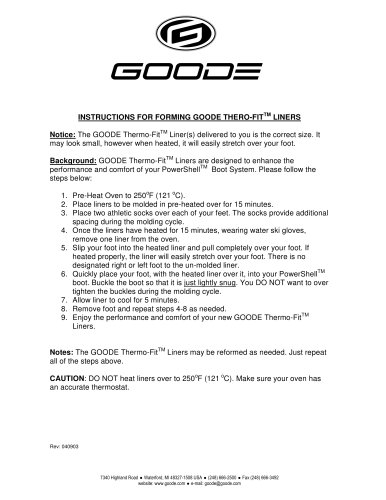 TheroFit Heat Molding Instructions