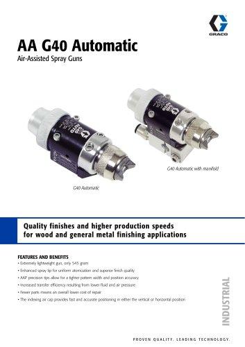 AA G40 Automatic Air-Assisted Spray Guns - Graco - PDF