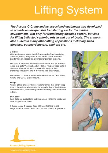Lifting System - Access Dinghies - PDF Catalogs | Documentation