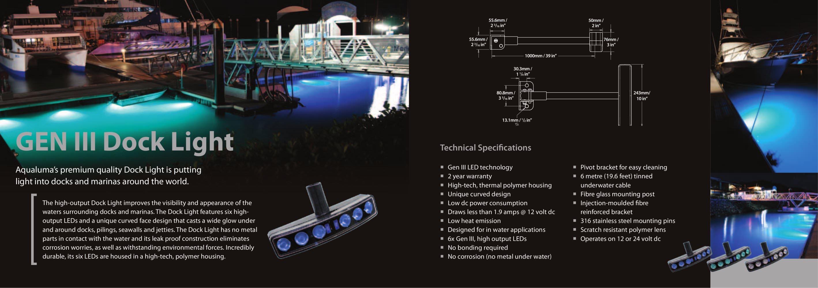dock light - aqualuma - pdf catalogues | documentation | boating, Reel Combo