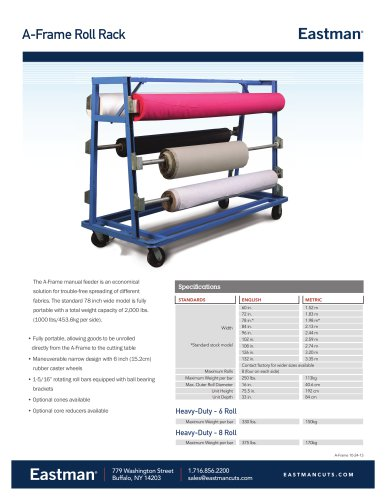 A-Frame Roll Rack