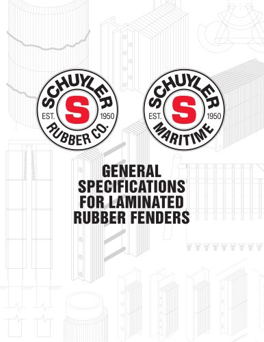 General specifications for laminated rubber fenders