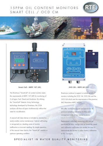 Smart Cell OCD CM Bilge Oil Content Monitors