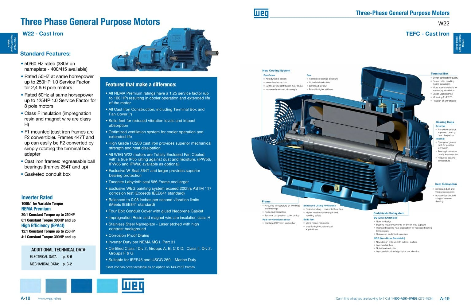 Three Phase General Purpose Motors - Weg Electric Motors - PDF ...