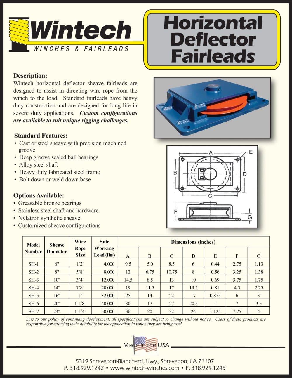 Horizontal Deflector Fairleads - Wintech International LLC - PDF ...
