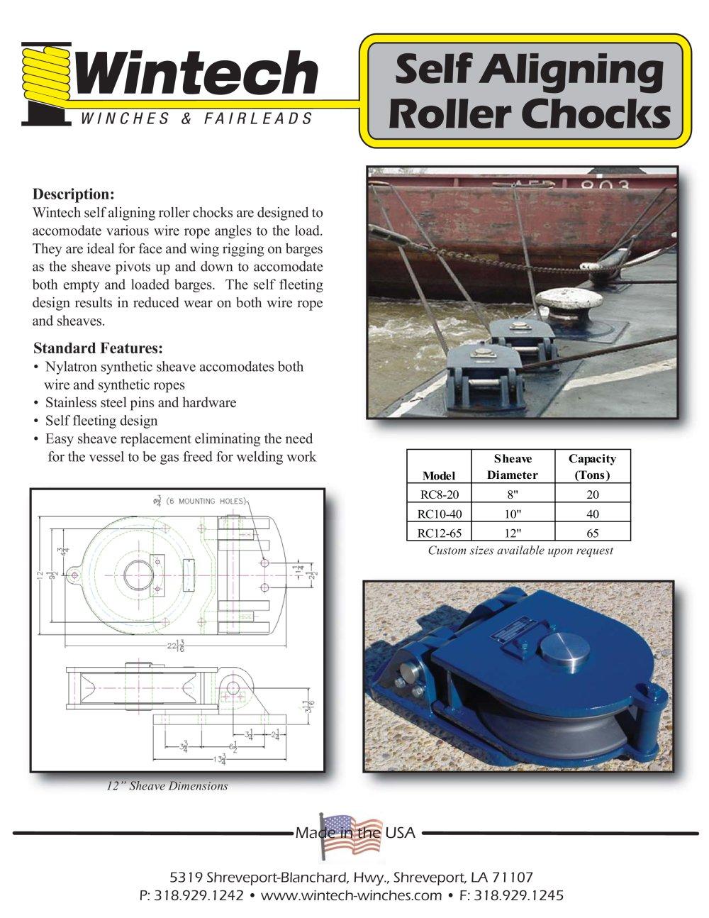 Self Aligning Roller Chock - Wintech International LLC - PDF ...