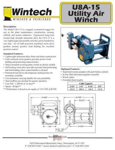 U8A-15 - Wintech International LLC - PDF Catalogs | Documentation