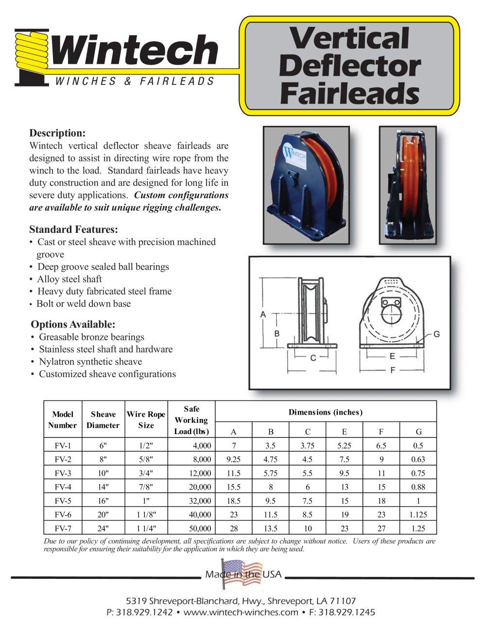 Vertical Deflector Fairleads - Wintech International LLC - PDF ...