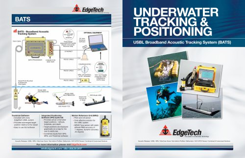 EdgeTech USBL Brochure: A Complete Overview of all of EdgeTech's USBL System Offerings