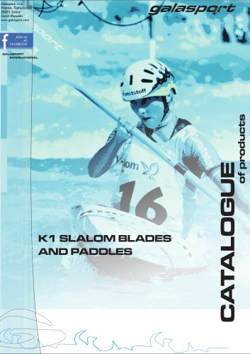 K1 slalom paddles catalogue