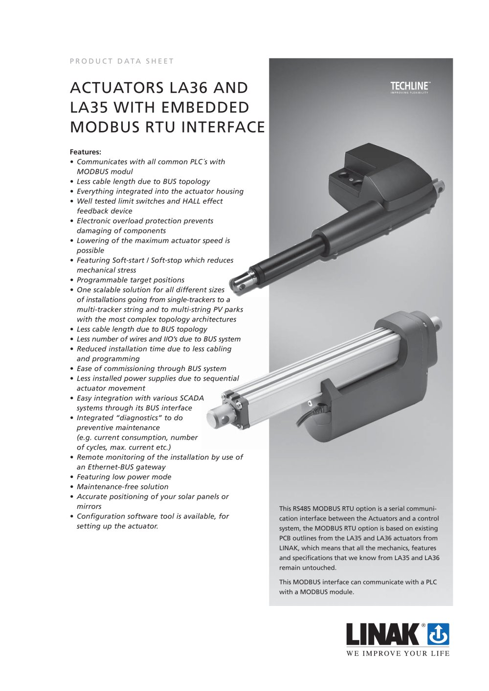 linear actuator la35 MODBUS - 1 / 2 Pages