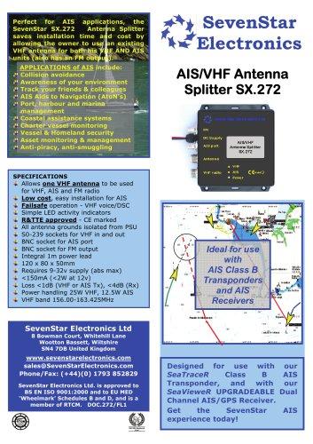 SX 272 VHF Antenna Splitter - SevenStar Electronics Ltd