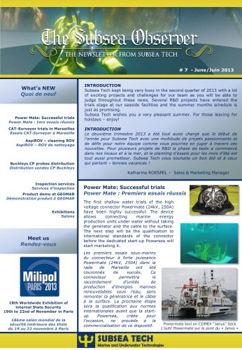"Newsletter ""Subsea Observer"" #7"