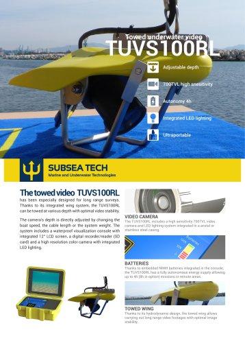 Towed underwater video camera TUVS100RL