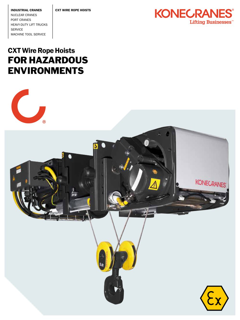 CXT Wire Rope Hoist for Hazardous Environments - 1 / 4 Pages