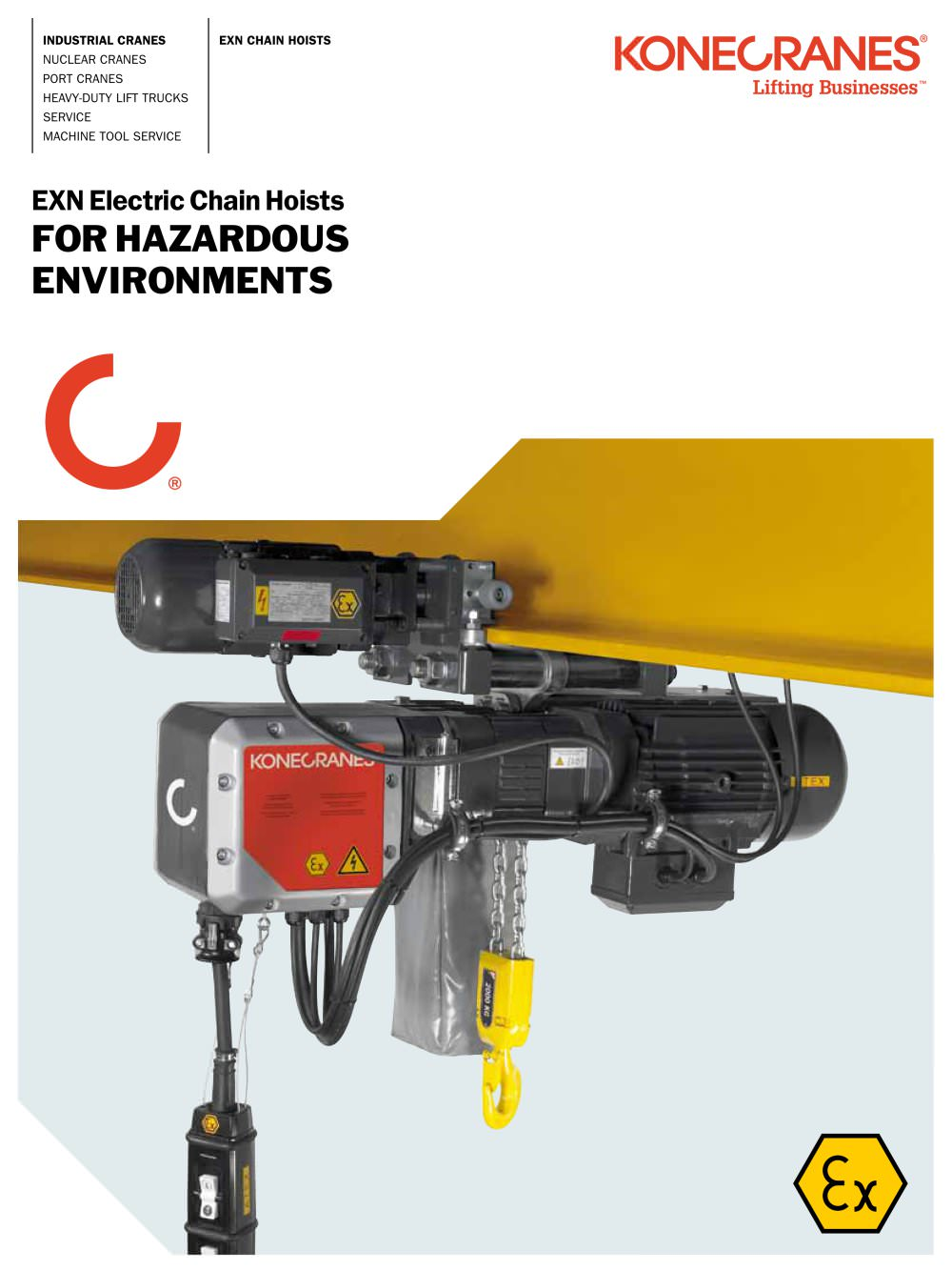 EXN Electric Chain Hoists for Hazardous Environments - 1 / 4 Pages