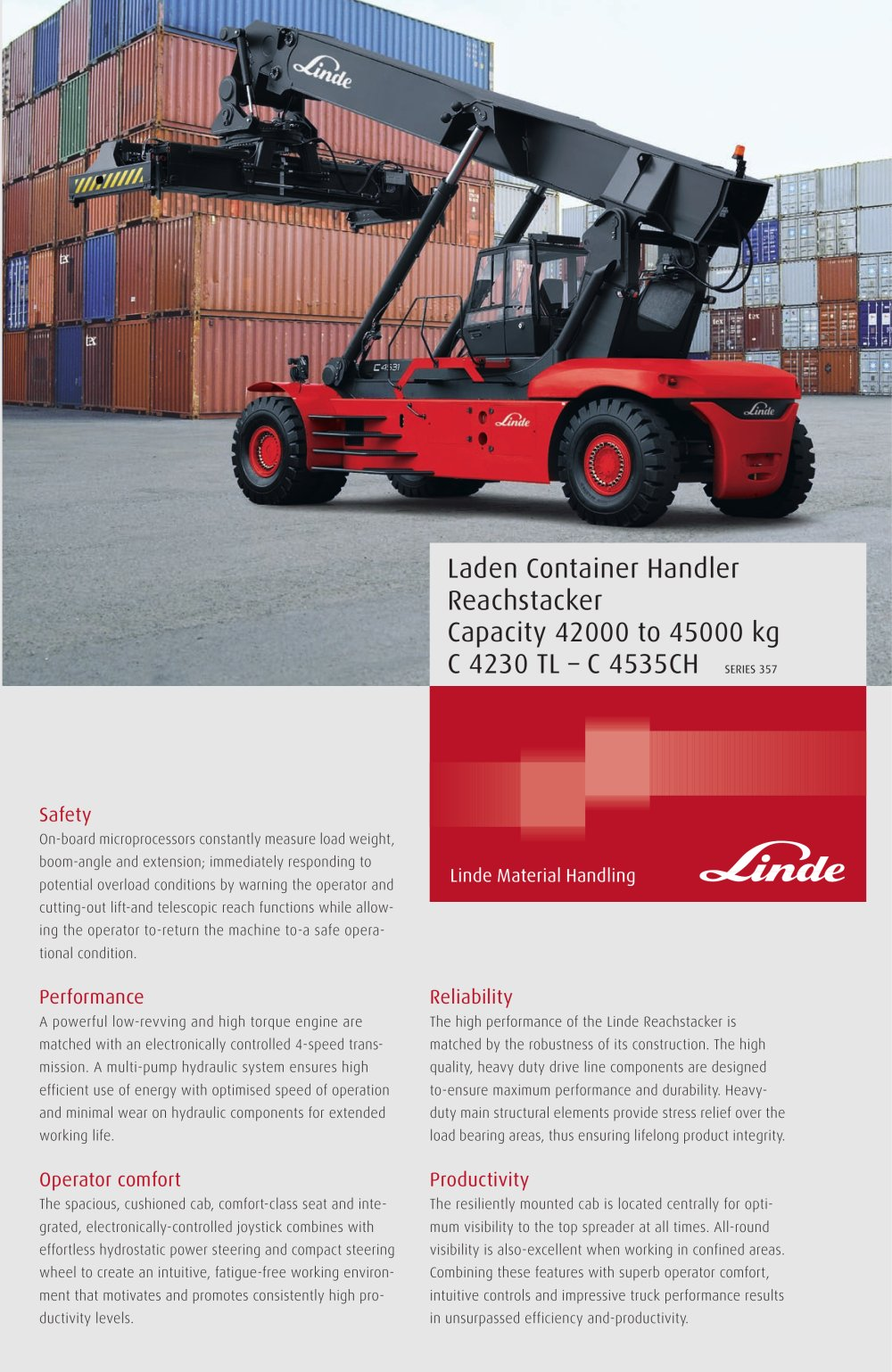 Linde manuals array reach stacker c 4230 4535 pdf linde heavy truck division pdf rh pdf nauticexpo fandeluxe Gallery