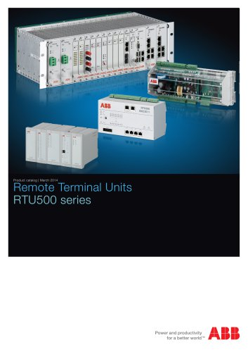 RTU500 series product catalog 2014