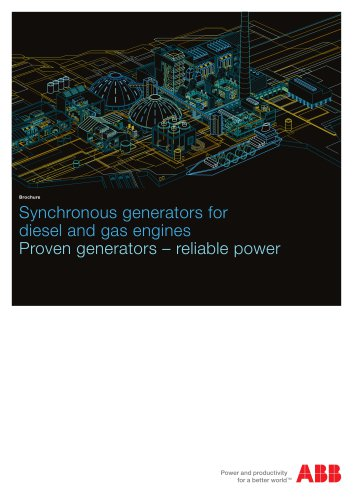 Synchronous generators for diesel and gas engines, Proven generators - Reliable power