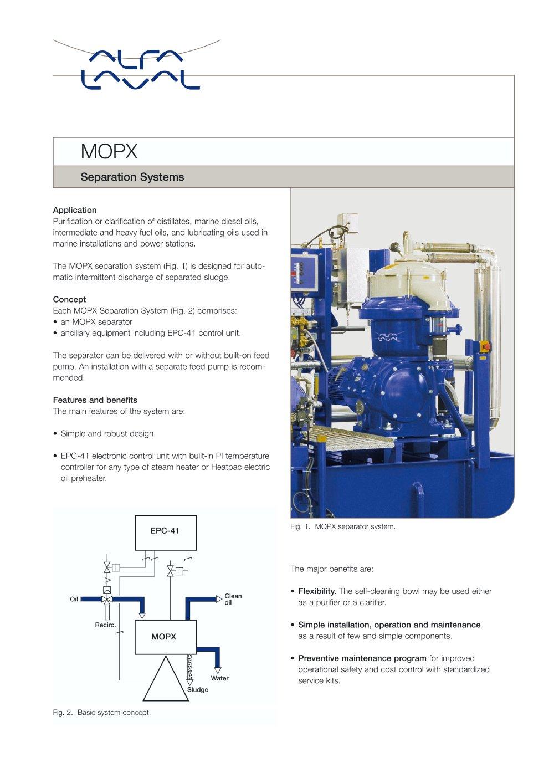 mopx separation systems alfa laval mid europe pdf catalogues rh pdf nauticexpo com Alfa Laval Separation Inc Alfa Laval Parts