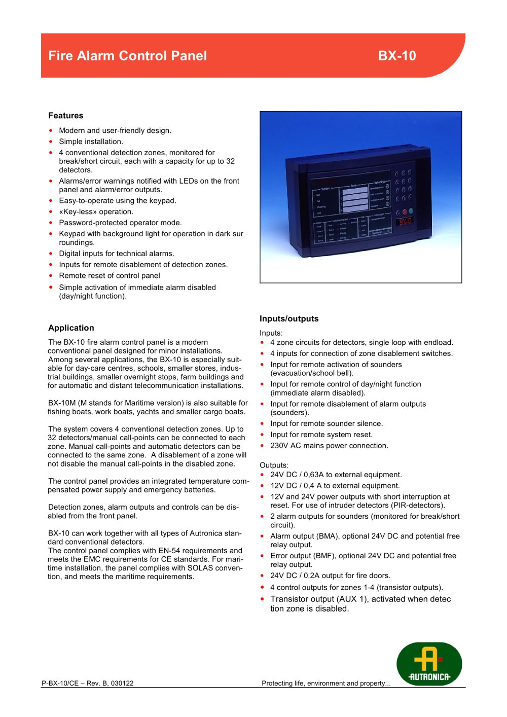 conventional - Autronica Fire and Security - PDF Catalogues ...