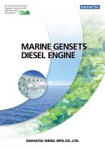 DAIHATSU MARINE GENSETS DIESEL ENGINE
