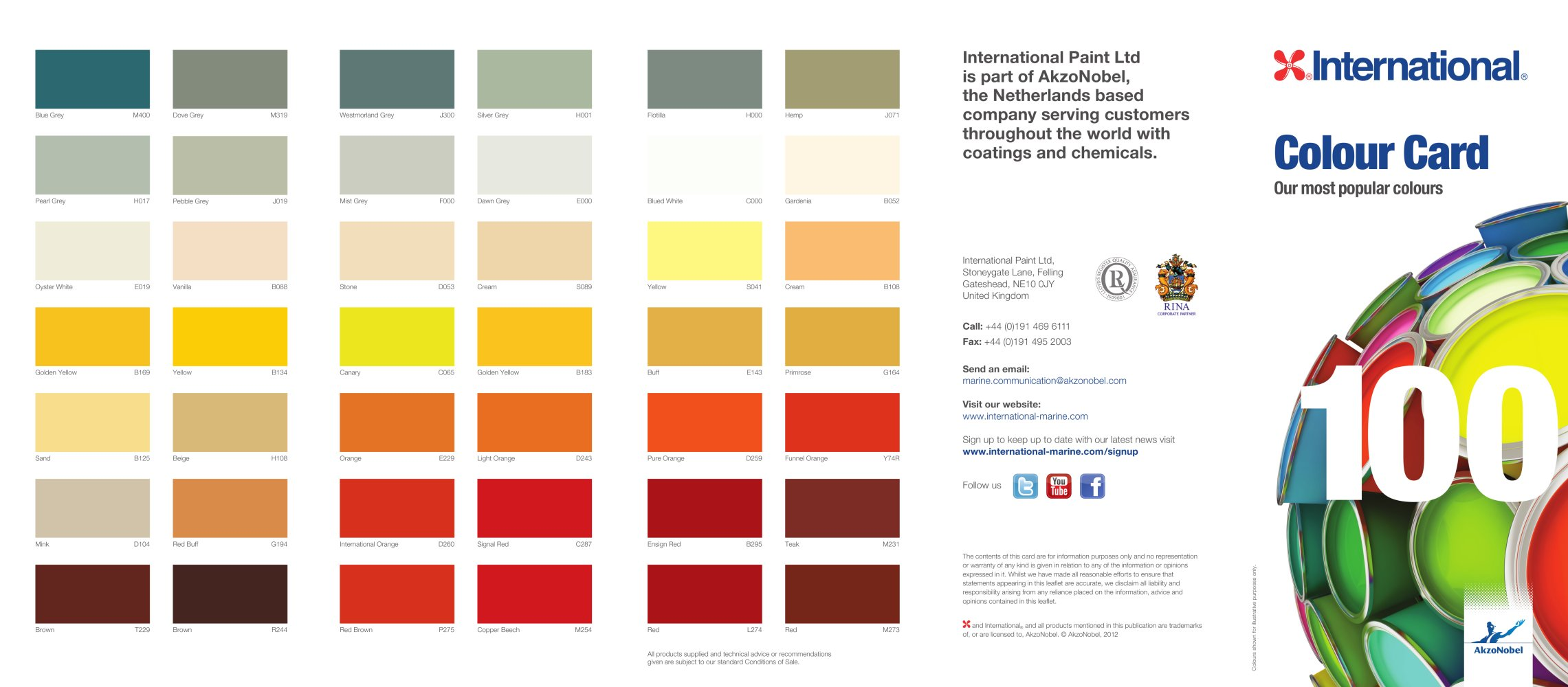 Colour card international marine pdf catalogues documentation colour card 1 2 pages nvjuhfo Image collections
