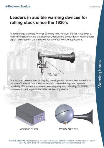 Leaders in audible warning devices for rolling stock since the 1920's